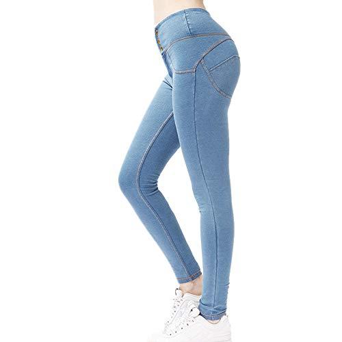 PPPPA High-Waist Jeans Frauen dünn elastisch Sport Enge Hüften sexy Pfirsich Gesäß Hosen Fitness Hose weiblich mikroelastisch eng Jeans Pfirsich Sport Laufhüften Yoga Neun-Punkt-Hose