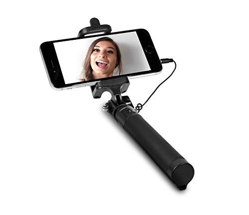 Fresh 'n Rebel Selfie Stick Ink, Verstellbare Selfie Stange mit Kabel