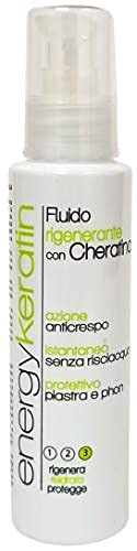 Energy Keratin Ricostruttore e Protettivo Piastra E Phon Professionale con Cheratina, Termo Protettore100 ml, Non Contiene Allergeni, Made in Italy