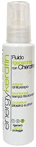 Energy Keratin Reconstructor y Protector Plancha y Secador de Cabello Profesional con Keratina, Thermo Protector100 ml, No contiene alérgenos, Made in Italy