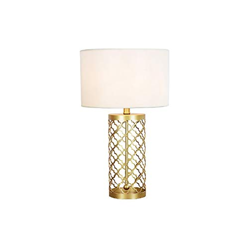 JYDQM Lámpara de Mesa de Hierro Dorado Lámpara de mesilla de Dormitorio de Estudio Lámpara de Mesa Decorativa ahuecada Creativa nórdica