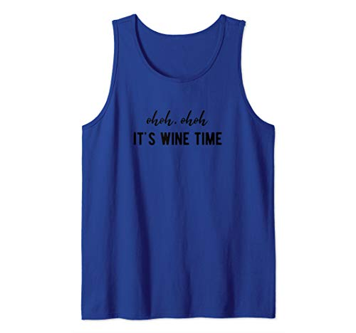 It's Wine Time - Lustiges Weintrinker Wein Weinfest Geschenk Tank Top