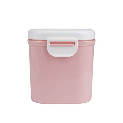 Contenitore per Latte in Polvere Portatile Dispenser per Alimenti per Neonati Scatola per Polvere Formula con Cucchiaio per Frutta Spuntino Cereali per Viaggio 800ml Rosa