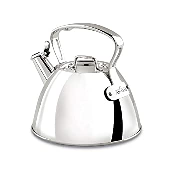 All-Clad E86199 Stainless Steel Tea Kettle 2-Quart Silver