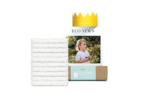 Eco by Naty, Größe 3, 10 Windeln, 4–9 kg, TESTBOX, pflanzliche Premium-Bio‑Windeln mit 0% Plastik auf der Haut.