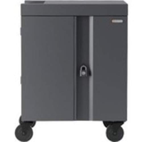 Purchase Cart (Charge only) for 36 Tablets/notebooks (pre-Wired) - Lockable - Welded Steel - Platinu...
