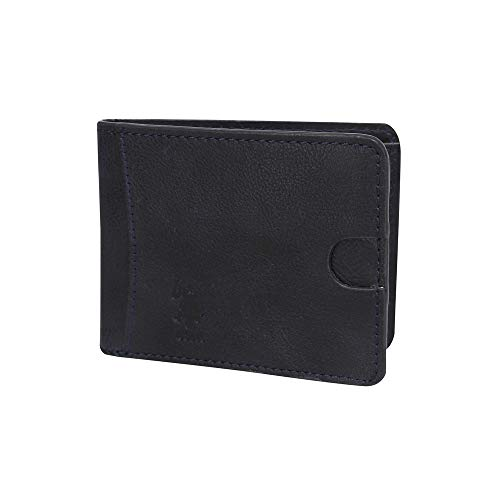 U.S. Polo Assn. Mens 1 Fold Wallet (Navy_Free Size)