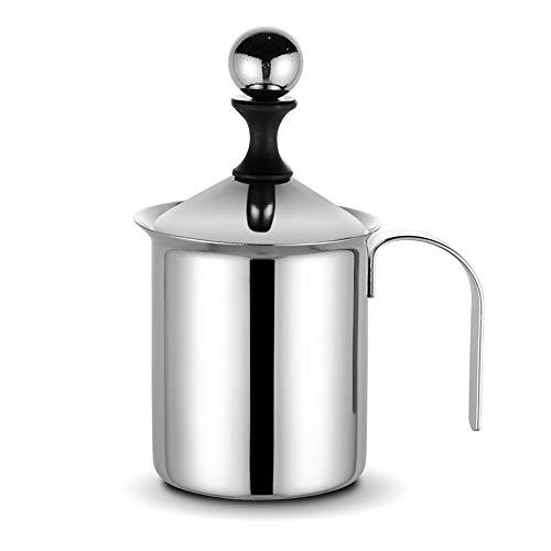 mousseur à lait électrique,mixeur batteur electrique Mousseur à lait Fouet manuel Conception anti-débordement Filtre double couche Convient pour la maison,le café,le restaurant et d'autres scènes