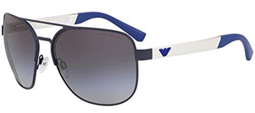 Emporio Armani 0EA2064 Gafas de sol, Matte Blue, 62 para Hombre