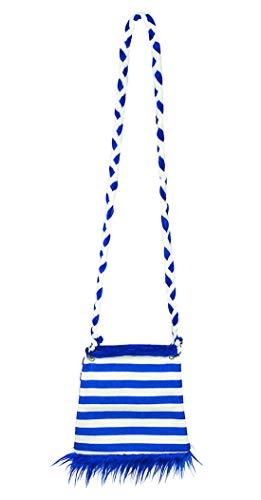 erdbeerclown - Kostüm Accessoires Zubehör Damen Handtasche Tasche im Marine Matrosen Seemann Stil, 20cm, Handbag Navy, perfekt für Karneval, Fasching und Fastnacht, Blau