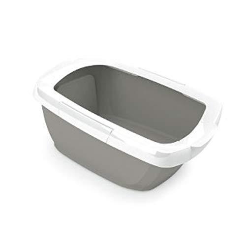 Imac Funny Lettiera Toilette Aperta per Gatti XXL 62x49,5x33 Color Tortora
