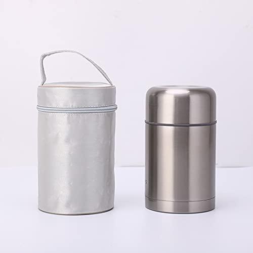 Nenka Botella isotérmica de doble pared, acero inoxidable, botella de agua al vacío, para escuela, deportes, exterior (600 ml)