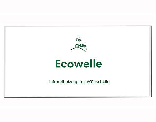 Ecowelle Eigenes Bild & Foto Infrarot Heizung mit Herstellergarantie - Made in Germany - Infrarotheizung mit Wünschbild (750 Watt, Weiße Alurahmen)