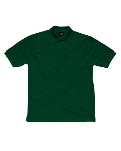 SG sg50-bg-4X L Herren Polo Shirt, 4X Große, Flasche Grün (5Stück)