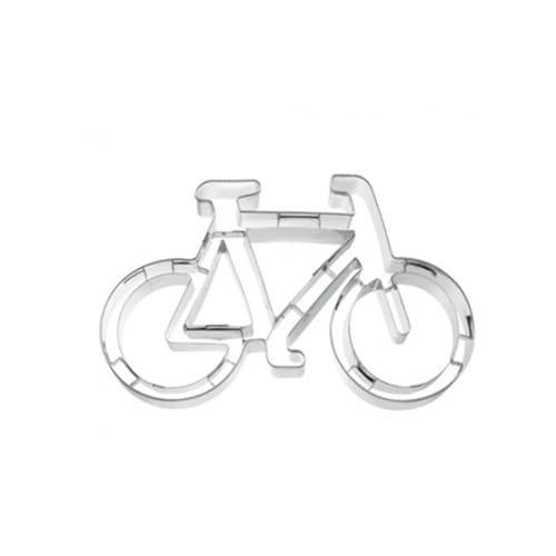 Birkmann 1010724010 Ausstechform Fahrrad, 11 cm, Kunststoff, Grau, 5 x 3 x 2 cm