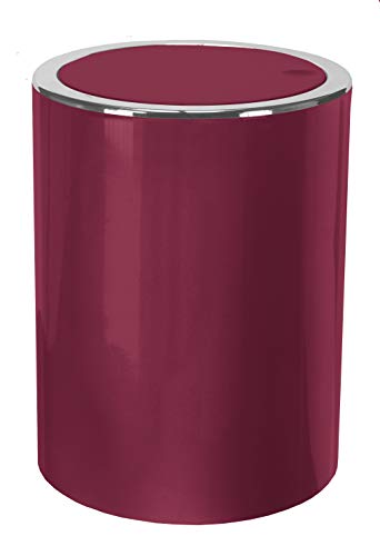 Kleine Wolke Cubic - Secchio per Cosmetici, in ABS, 5 l, Colore: Bordeaux
