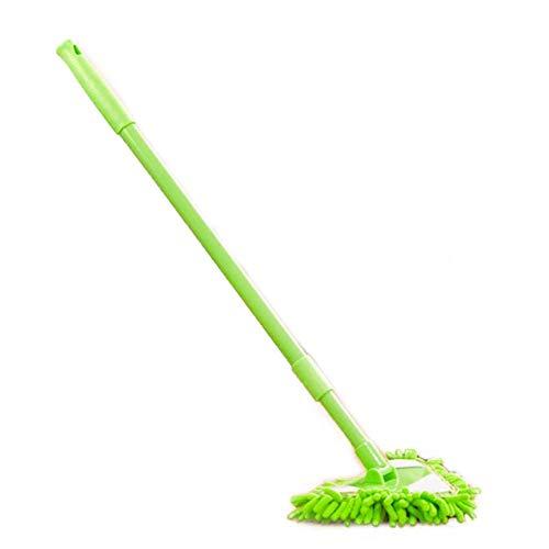 Bodenwischer Wischmop Wash Mop Microfiber Nass Twist Mop mit Flexibler, Biegsamer Teleskop-Stange und Dreieck Handtuch Kopf,360 Grad Reinigen