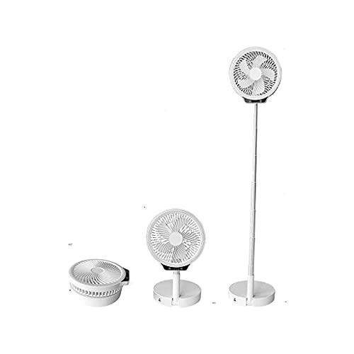 massager Mini Ventilador Vertical, Plegable y portátil, Ajustable en Altura, de 14 a 40 Pulgadas, en Silencio de Tres velocidades