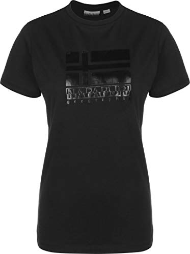 Napapijri Damen SHYAMOLI T-Shirt, Schwarz (Black 0411), Small (Herstellergröße:S)