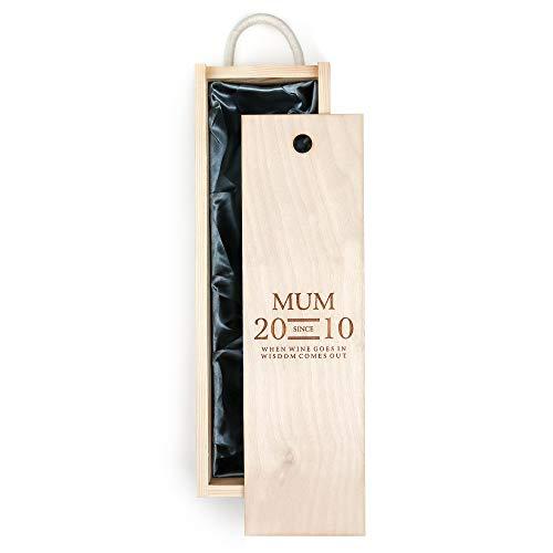 Caja de vino especial para mamá, ideal como regalo para el día de la madre, cumpleaños o Navidad.