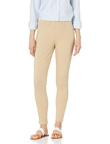 Amazon Essentials Damen leggings-pants Skinny Stretch Pull-on Knit Jegging, Khaki., X-Small Regular