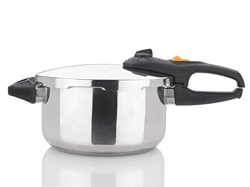Zavor DUO 4.2 Quart Multi-Setting Pressure Cooker with Recipe Book and Steamer Basket - Polished Stainless Steel (ZCWDU01)
