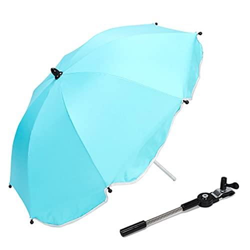 OHHCO Cochecito Parasol Paraguas Paraguas Paraguas Plegable protección UV protección Parasol bebé Infantil protección Sol Paraguas para sillas de Cochecito Cochecito Cochecito,Azul