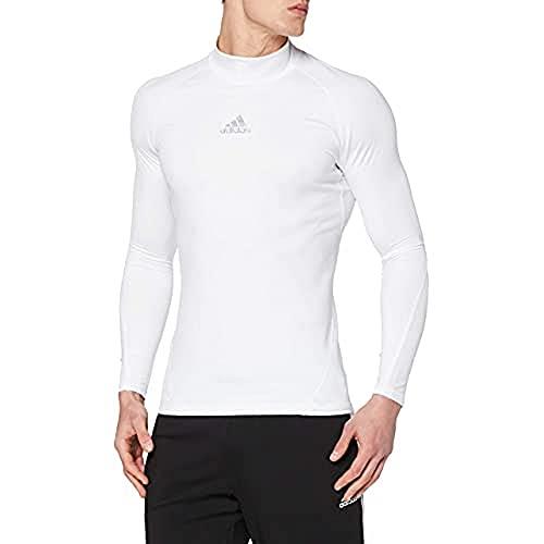 adidas Alphaskin Climawarm Suéter De Manga Larga, Hombre, Blanco, M