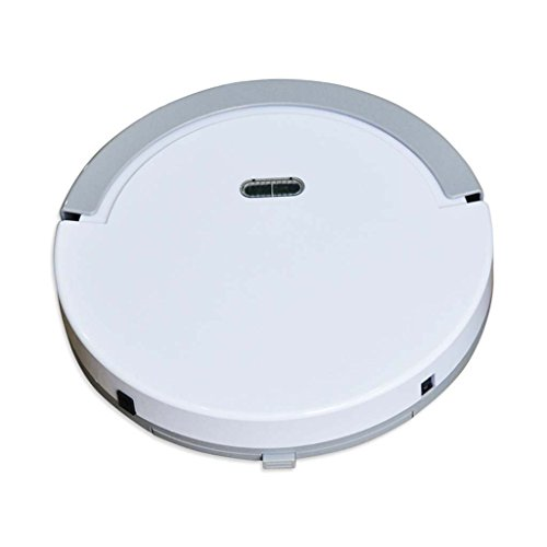 J&A Robot Aspirador, Ultrafino 5cm Robot Sweeper Completamente Automático con Control Remoto, Bueno para Mascotas, Diseñado para Piso Duro y Alfombra Fina