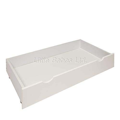 New White Under Bed Cot Drawer/Small Drawer Ideal for Mini Cot Space Saver Cot/Mini Under Bed Drawer for Baby Small Cot