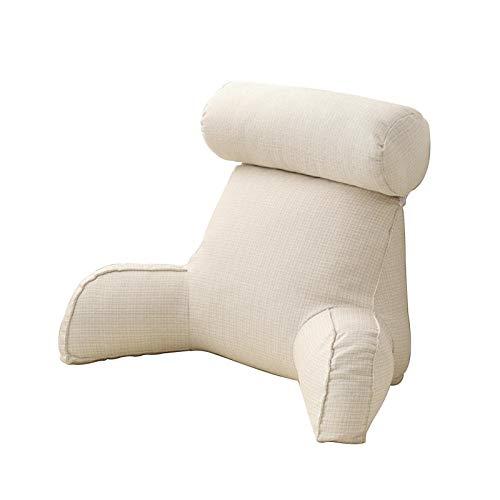 Almohada de lectura para reposo en cama, almohadas para reposo en cama con reposabrazos y roll-o de cuello, almohada de espuma viscoelástica, sofá perezoso, silla, respaldo de cintura para le-e-r