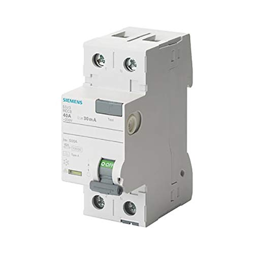 Siemens 5SV – Classe A interruttore differenziale 2p 40 a 30 mA 70 mm