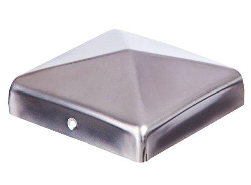 Pfostenkappe Zaunkappe Edelstahl Pyramide für Holzpfosten 16x16 cm, inkl. VA-Schrauben