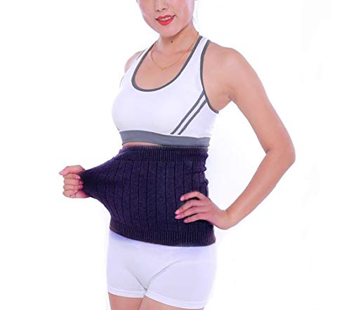 AGIA TEX elastischer Nierenwärmer Rückenwärmer atmungsaktiv aus Kaschmir-Wolle Leibwärmer für Damen Herren Kinder Größe L und Farbe Grau