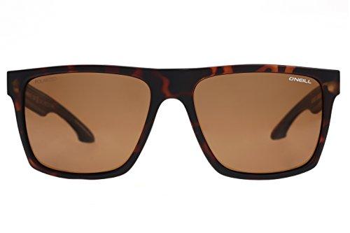 O'Neill Men's Harlyn Polarized Square Sunglasses, Matte Tort, 56 mm + 1