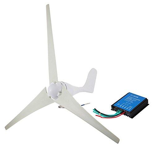 Buoqua windgenerator 400 watt Wind Generator 12v DC Wind Turbine Generator 400w 20A mit 3 Rotorblättern 800R/min (400W)
