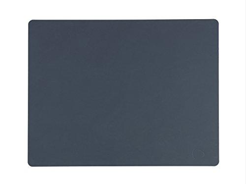 Lind (ADN Sets de Table en Cuir, Bleu Foncé, Lot de 2