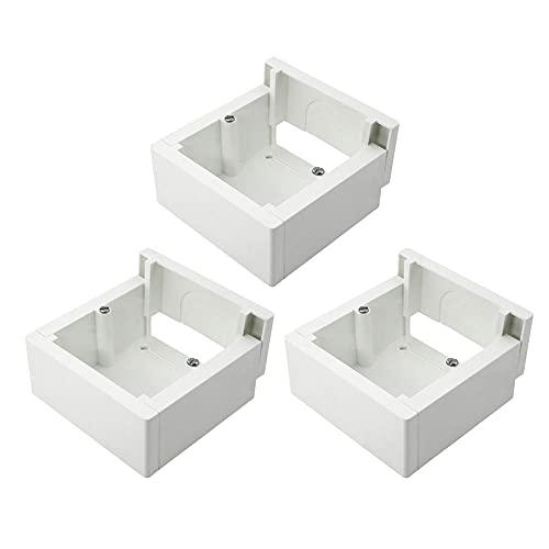 Pack de 3 cajas de superficie enlazable 85x85x42mm