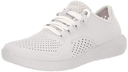 Crocs Women's LiteRide Pacer Sneaker, Pearl White, 9 M US