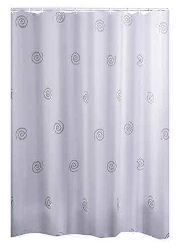 RIDDER Duschvorhang Textil Univers, inkl. Ringe grau 240x180 cm