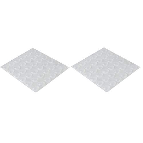 harayaa 2 Hojas / 72 Piezas de Silicona Adhesiva Semicírculo Pies Evitar Puerta Muebles Parachoques