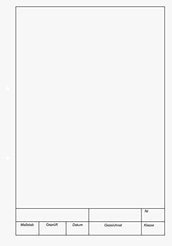 Brunnen 1042237 KIESER-Zeichenblock (A4, 25 Blatt, blanko, mit Rand, gelocht, 150g/m²)
