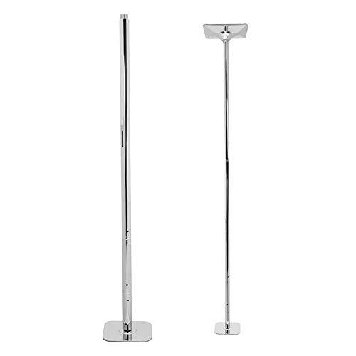 N / A Professioneller Spinning Dancing Pole, hochwertiger kaltgewalzter Stahl mit höhenverstellbarer Verchromung, geeignet für Anfänger, professionelle Tänzer