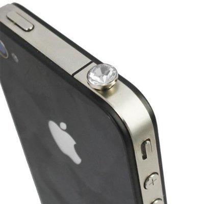 itronik® Kristall Crystal Clear Klar 3.5mm Staubdichter Kopfhörer Stecker Ohrhörer Stöpsel für Apple iPhone 4 4S iPod iPad und alle Geräte mit 3,5mm Klinkenbuchse Staub Schutz Kappe Weiss White