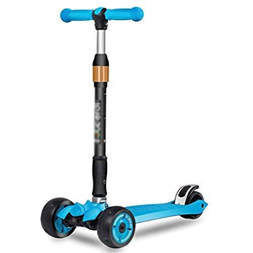 ygqtbc Vespa Plegable - Niños Kick Scooter con Altura Ajustable, Lean en Steer, Intermitente Ruedas for niños 3-8 años (Color : C)