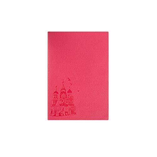 Dzwyc Cuaderno A5 PU Soft Cuero Cuaderno Papel Grueso Notepad Hardcover - Reglase 5.6'x8.3 Naranja Diarios (Color : Red, tamaño : A5)