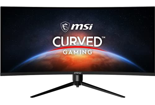 MSI Optix MAG342CQR 34 Inch Curved Gaming Monitor – 21:9 UWQHD (3440×1440), 1ms Response Time/1500R/144Hz/Night Vison/AMD Adaptive Sync/Mystic Light RGB