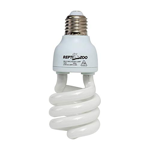 REPTIZOO Energy Saving Lamps UVB Bulb,Spiral Compact 26 Watts UVB 10.0 Reptile Light Bulb Fit for Desert Type Reptile/Snake/Lizard/Insect/Leopard Tortoise