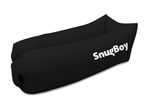 SnugBoy - Inflatable Air Bed Lounger Couch Chair Sofa Bag with Pockets, Stake and Bottle Opener