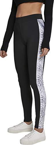 Urban Classics Damen Ladies Side Striped Pattern Leggings, blk/Snake, M